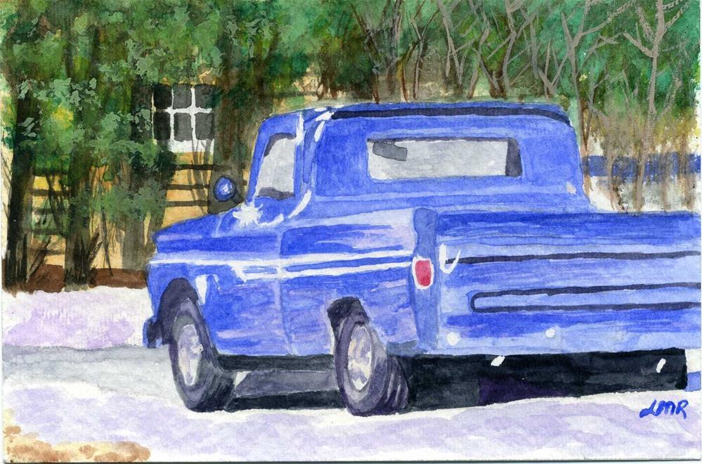 """""""Vintage Chevy"""" original fine art by Lynne Reichhart"""