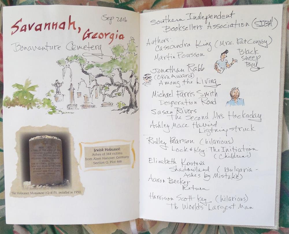 """Sketch Journal: Savannah, Georgia"" original fine art by Carmen Beecher"