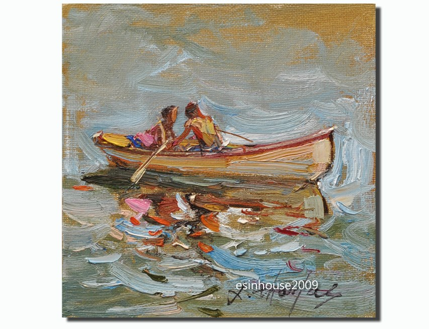 """rowing"" original fine art by Thomas Xie"