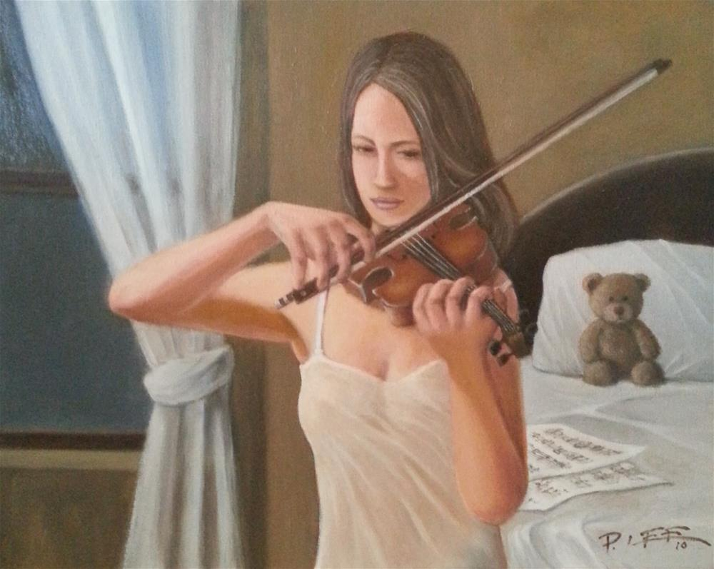 """Getting ready"" original fine art by Peter Lee"