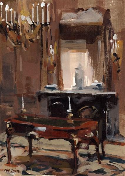 """""""A Regal Desk - Quick Study"""" original fine art by David Lloyd"""