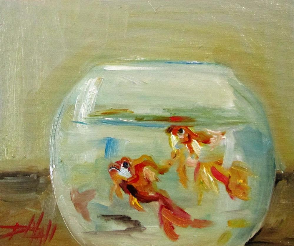 """Fish Bowl"" original fine art by Delilah Smith"