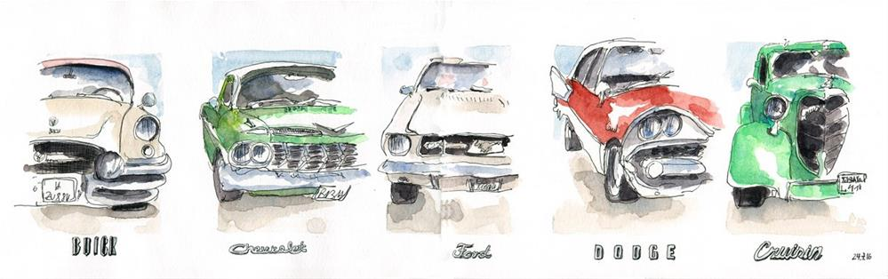 """""""1803 Car Show"""" original fine art by Dietmar Stiller"""
