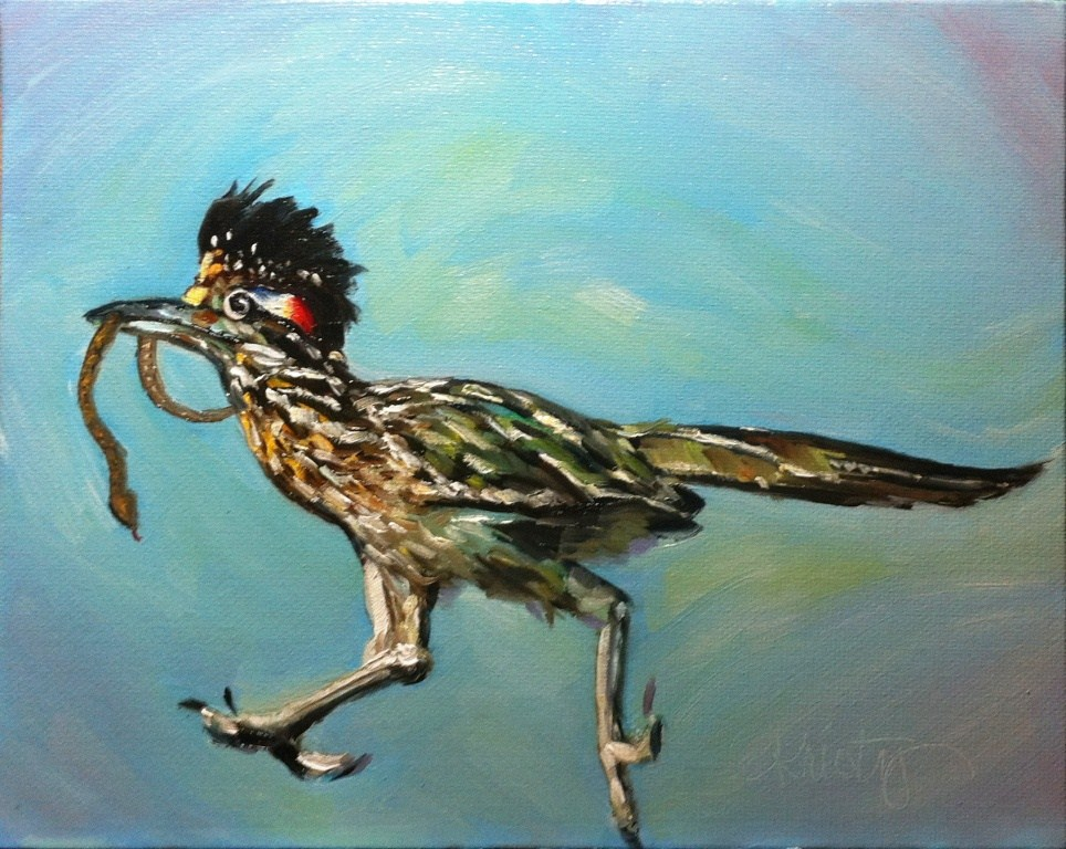 """FAST FOOD"" original fine art by Kristy Tracy"