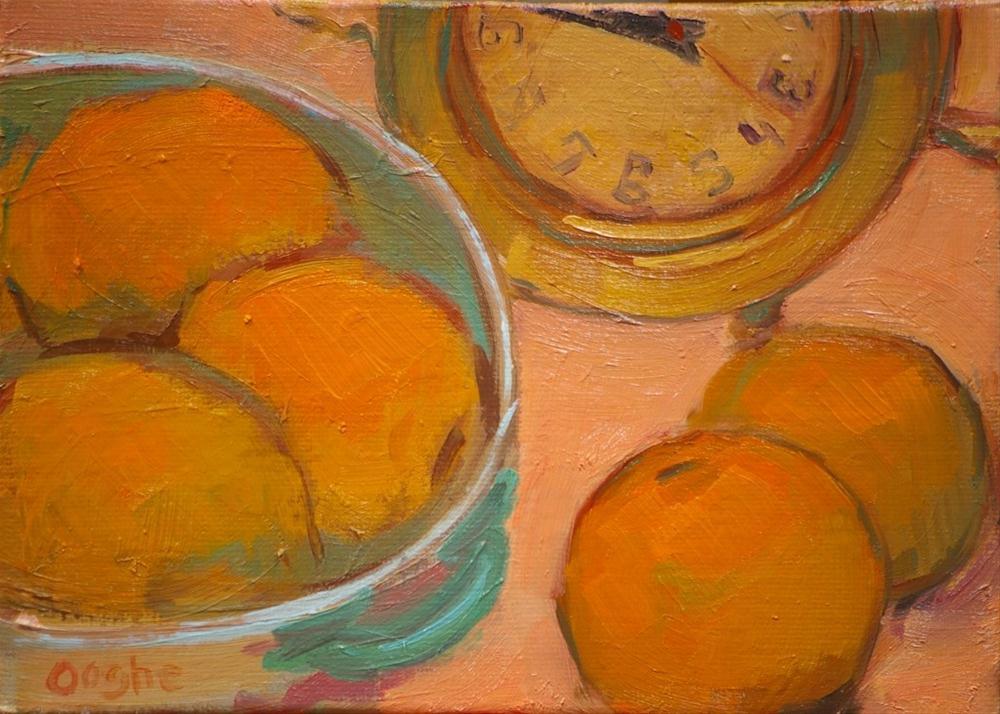 """Still Life with Oranges"" original fine art by Angela Ooghe"