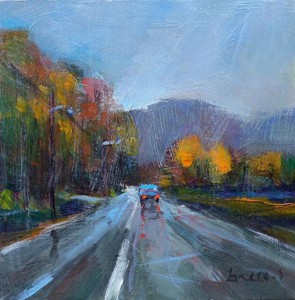 """""""The road rain"""" original fine art by salvatore greco"""