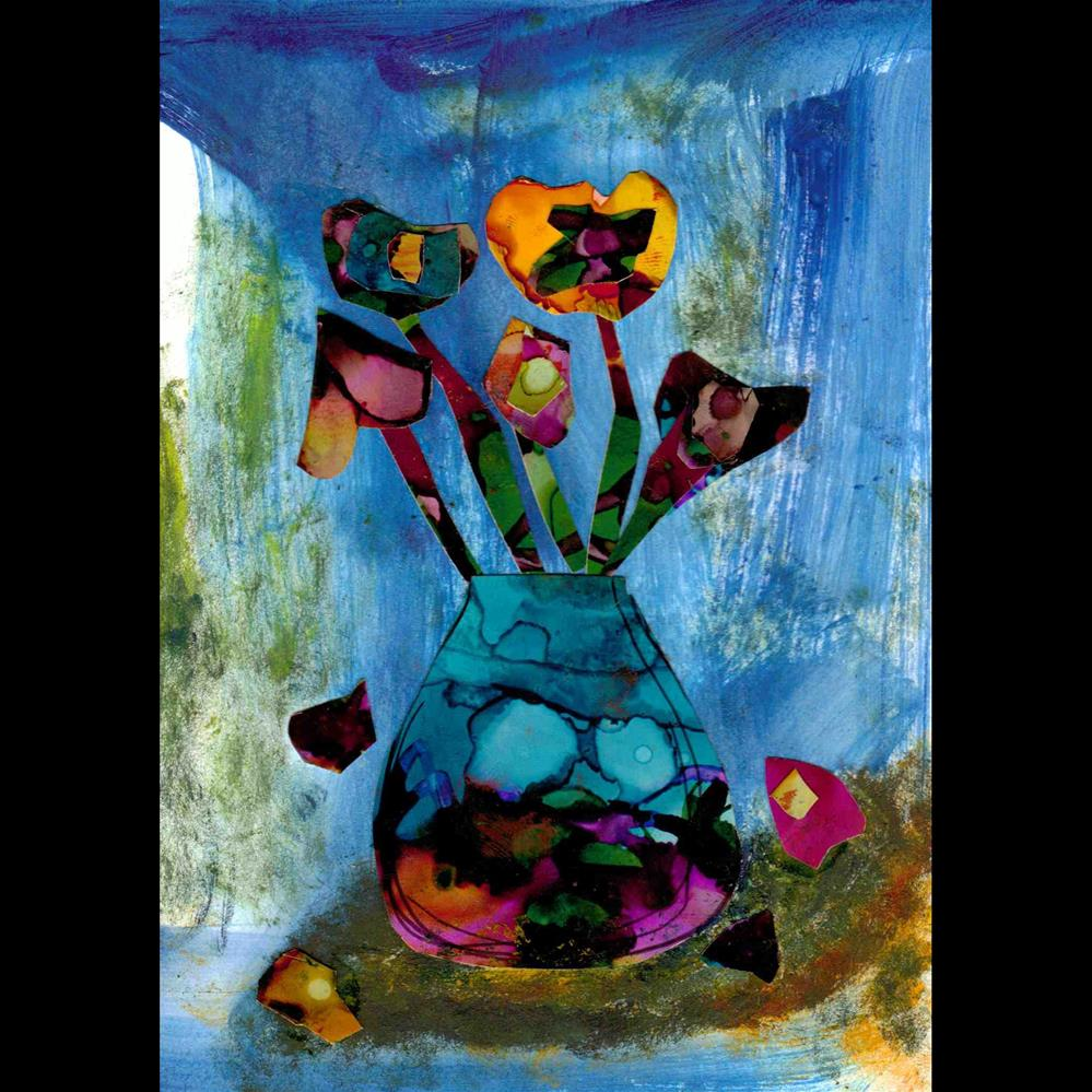 """Falling Petals"" original fine art by Kris Alge"
