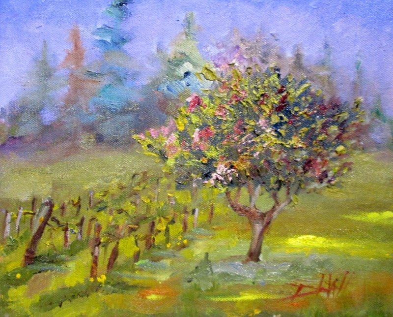 """""""Spring Landscape"""" original fine art by Delilah Smith"""