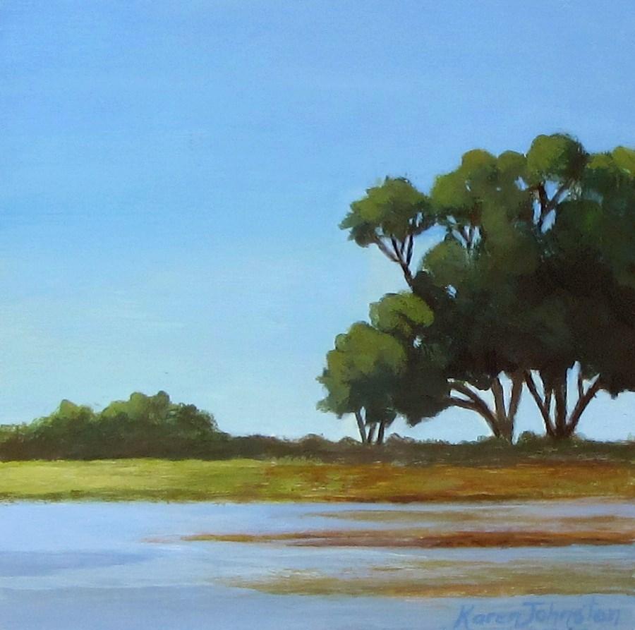"""Clear Summer Day"" original fine art by Karen Johnston"