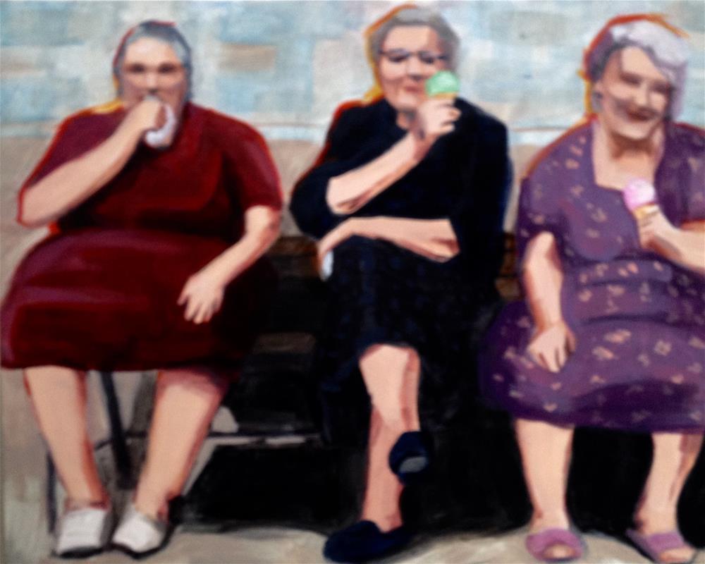 """Trio of Treats - Today"" original fine art by Bev Thibault"
