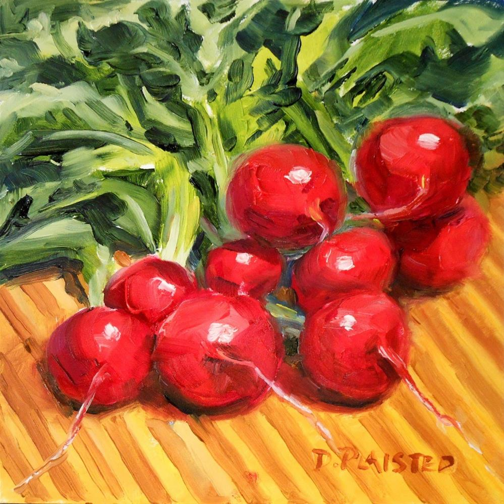 """""""On the Chopping Block - Radishes"""" original fine art by Diane Plaisted"""
