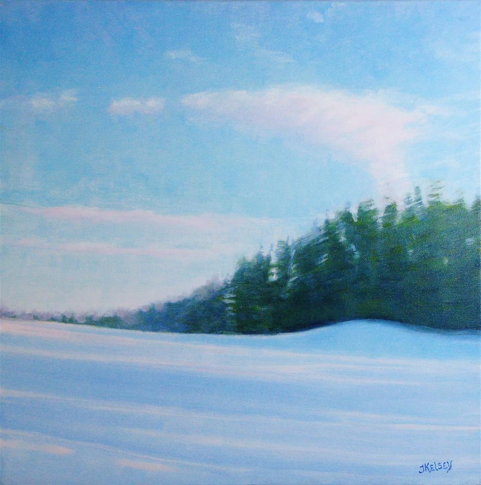 """""""Winter Blues"""" original fine art by J Kelsey"""
