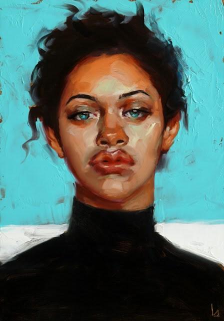 """Caribbean Blue"" original fine art by John Larriva"