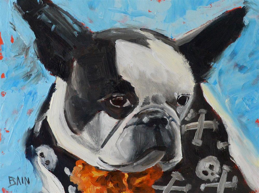 """Bad to the Bone"" original fine art by Peter Bain"