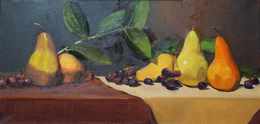 """Still Life with Pears"" original fine art by Catherine Van Berg"