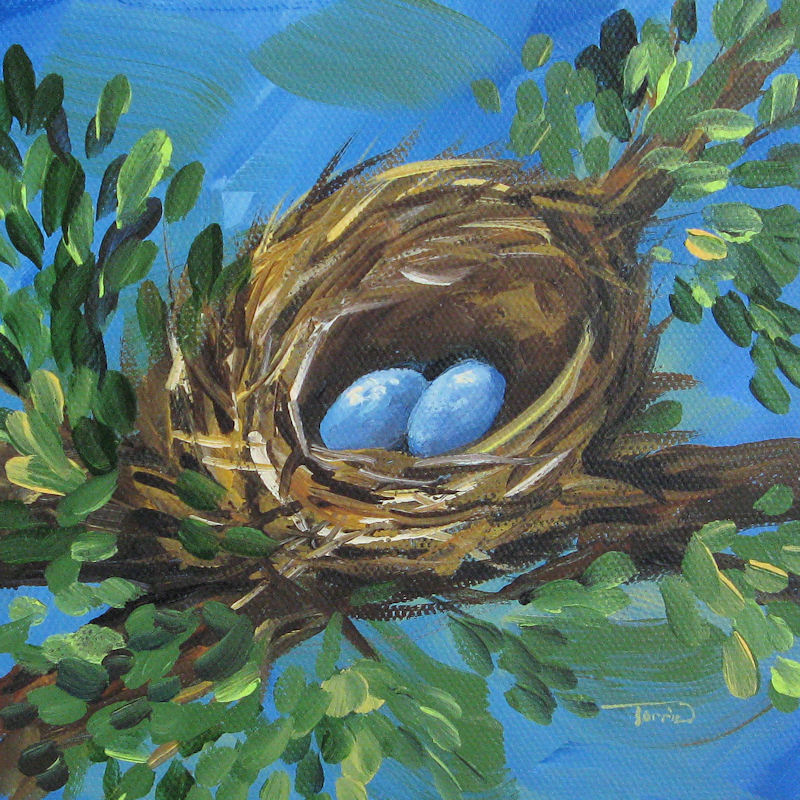 """The Spring Nest"" original fine art by Torrie Smiley"