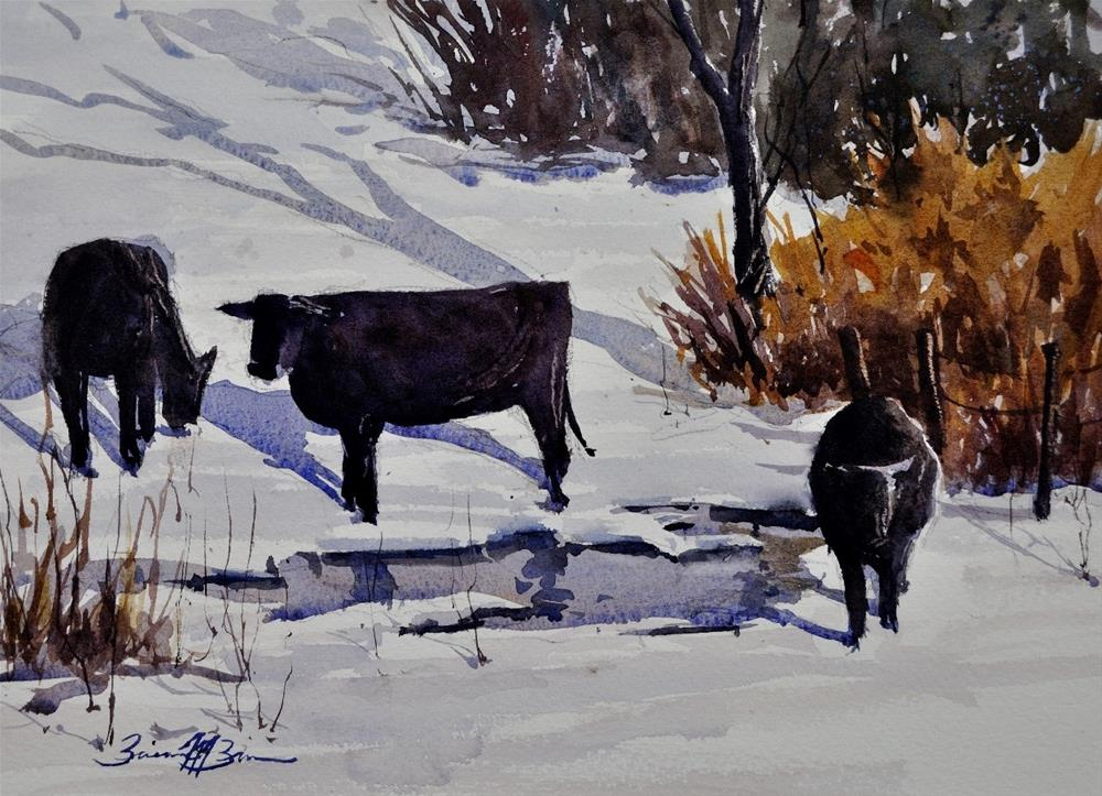 """Winter Trio"" original fine art by Brienne M Brown"