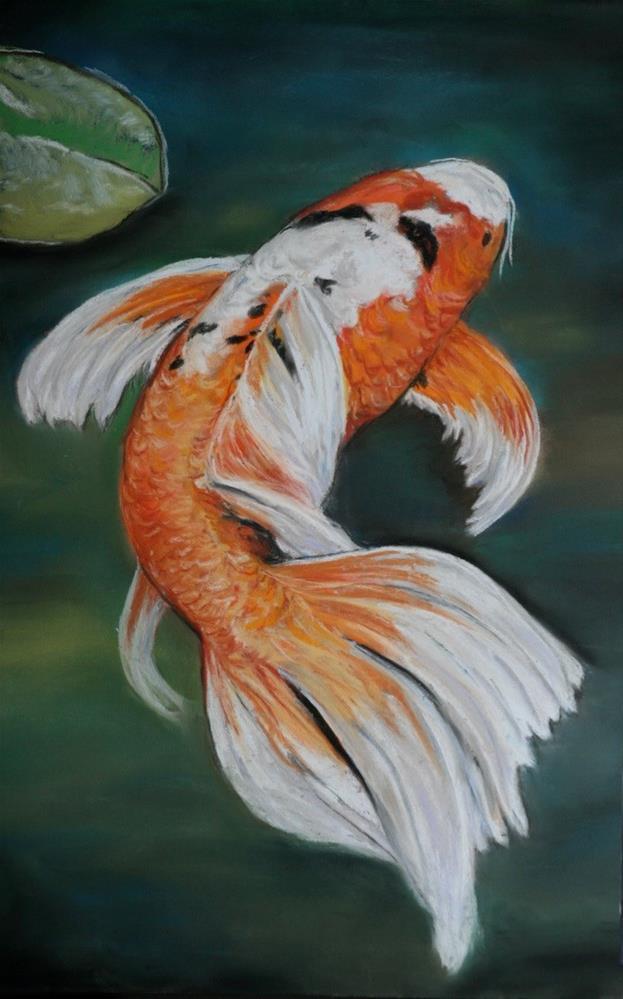 """Koi"" original fine art by Charlotte Yealey"