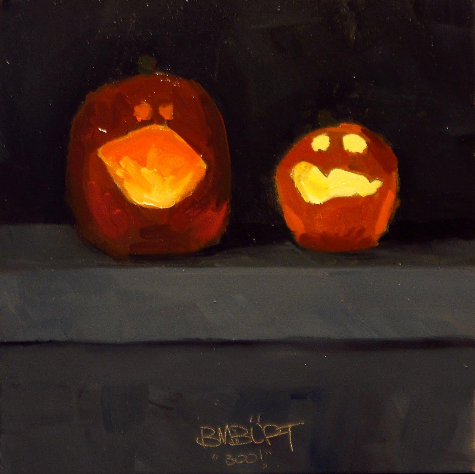 """""""DAILY DIAPER #208 Boo!"""" original fine art by Brian Burt"""