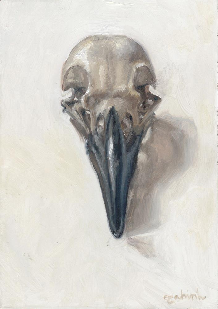 """Vulpes Corvum~ Raven Skull"" original fine art by Tahirih Goffic"