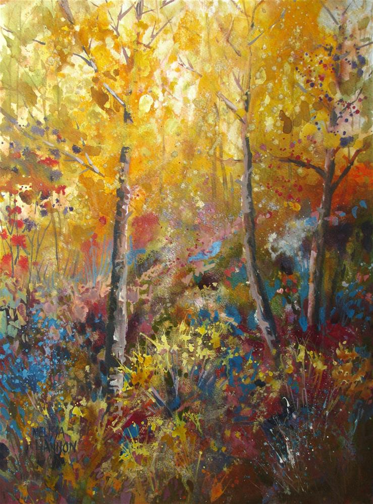 """Light in the Forest"" original fine art by Melissa Gannon"