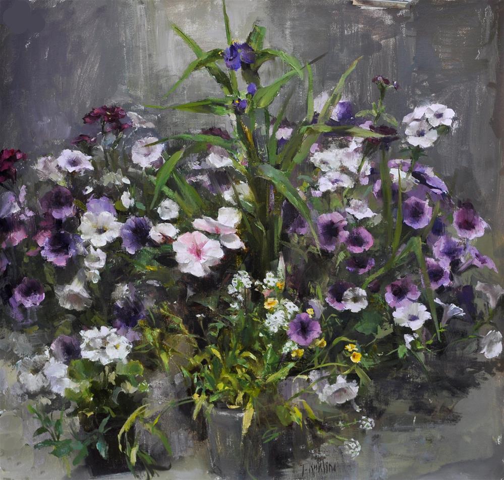 """""""flower pattern"""" original fine art by Taisia Kuklina"""
