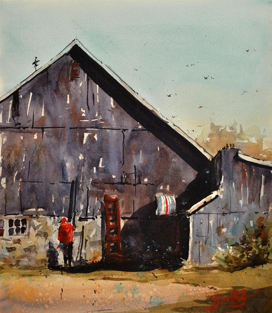 """Morning Chores"" original fine art by Brienne M Brown"
