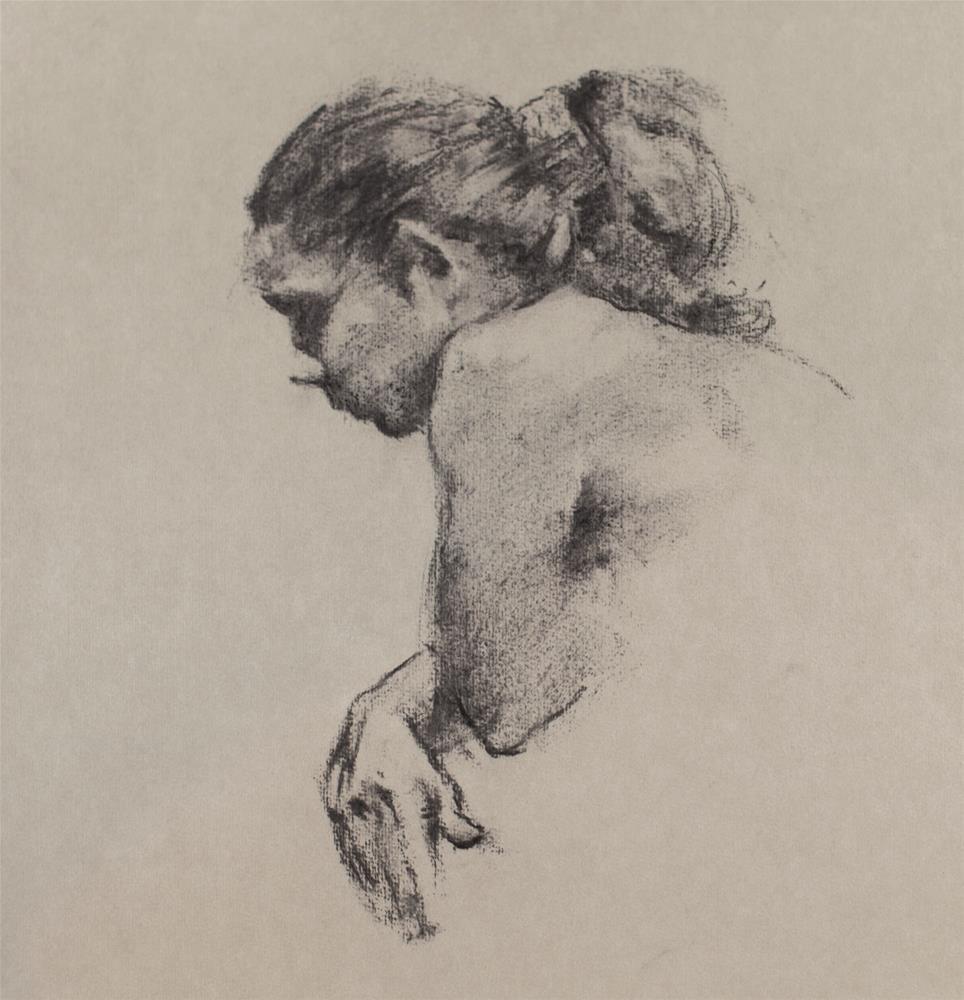 """""""Charcoal Portrait 001"""" original fine art by Thierry Monter"""