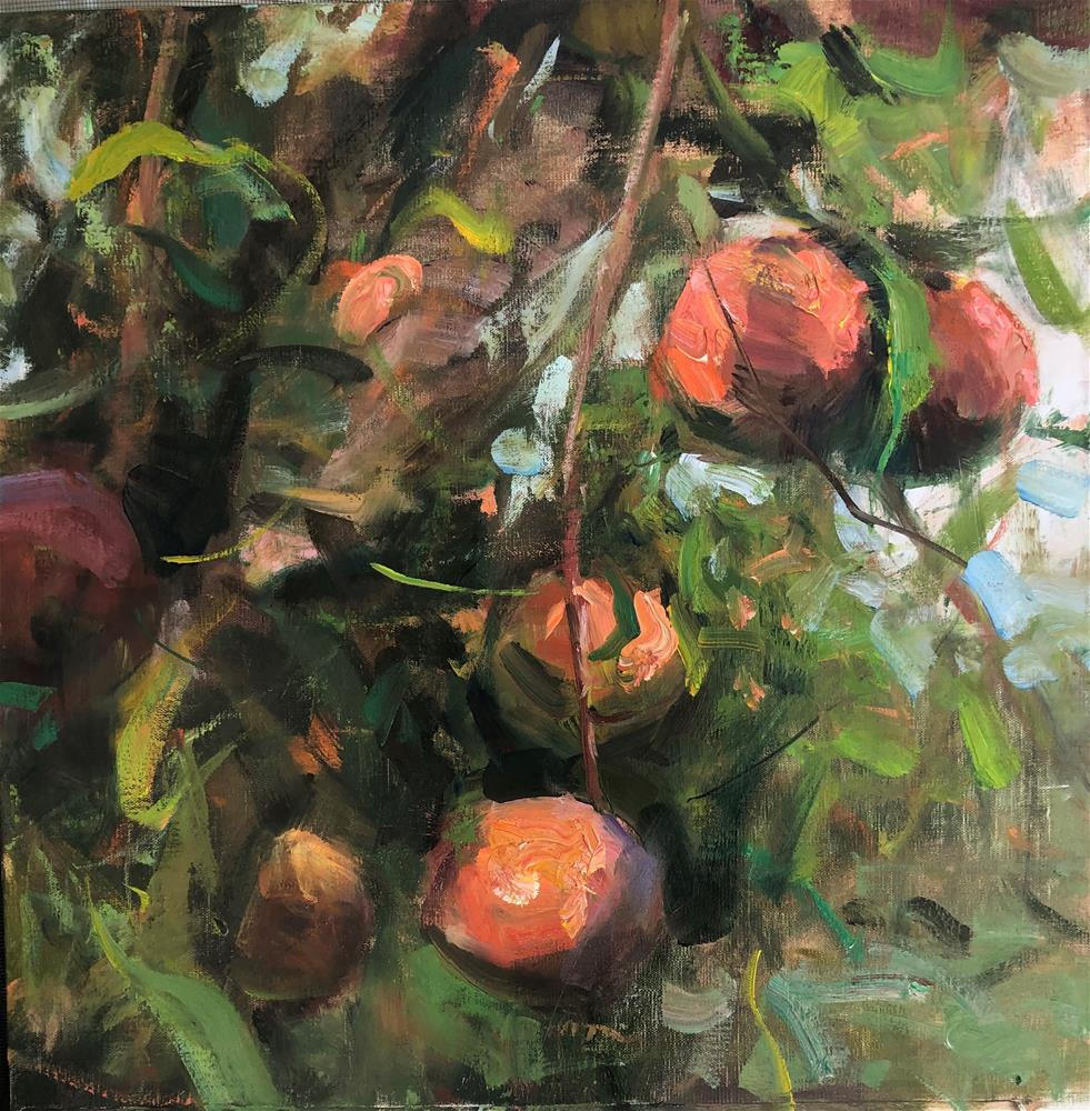 """Peachy"" original fine art by michal dye"