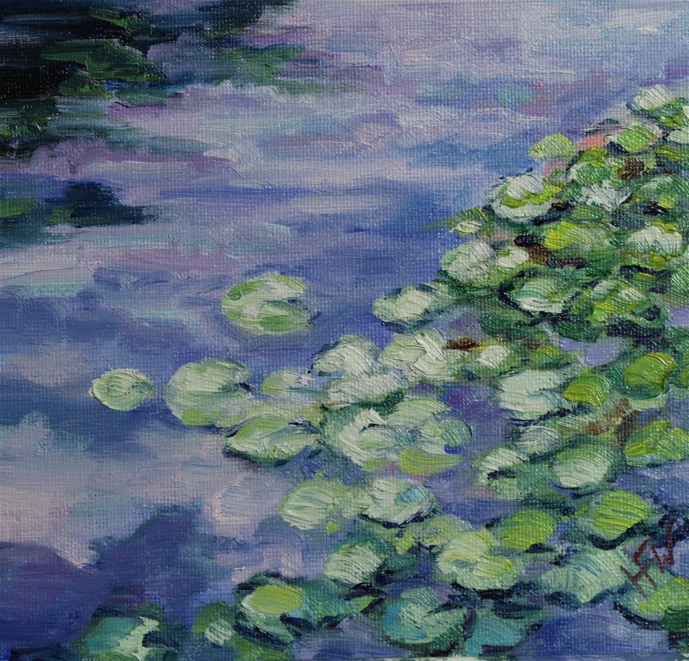 """Water Lilies"" original fine art by H.F. Wallen"
