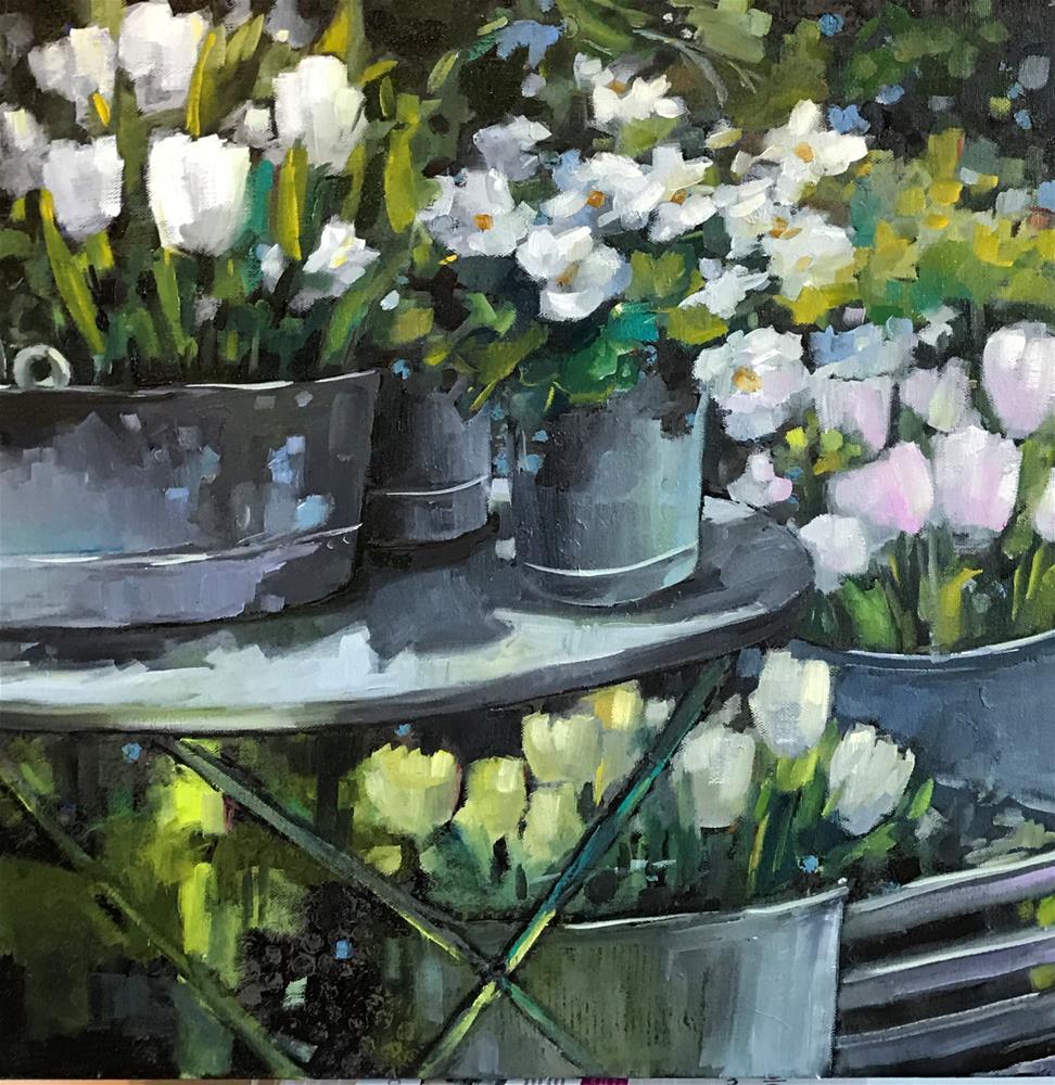 """White Garden"" original fine art by Libby Anderson"