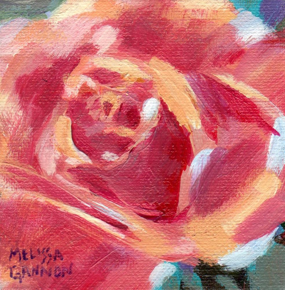 """Rose Blooming"" original fine art by Melissa Gannon"