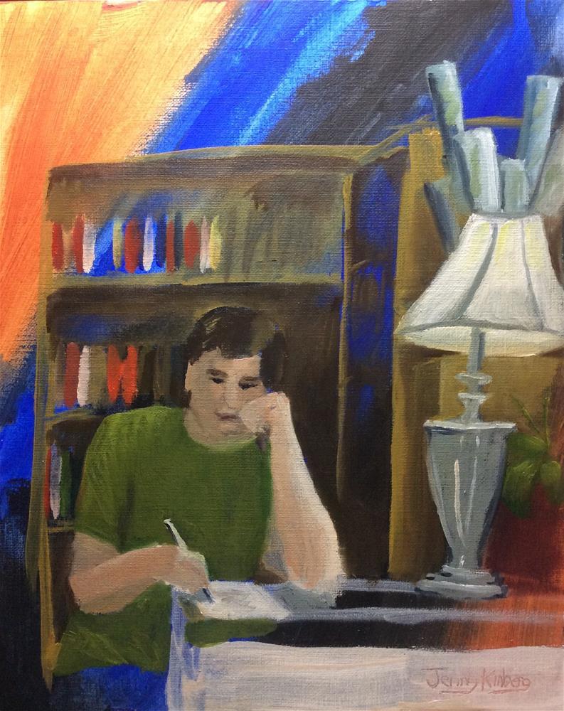 """Mike drawing"" original fine art by Jenny Kinberg"