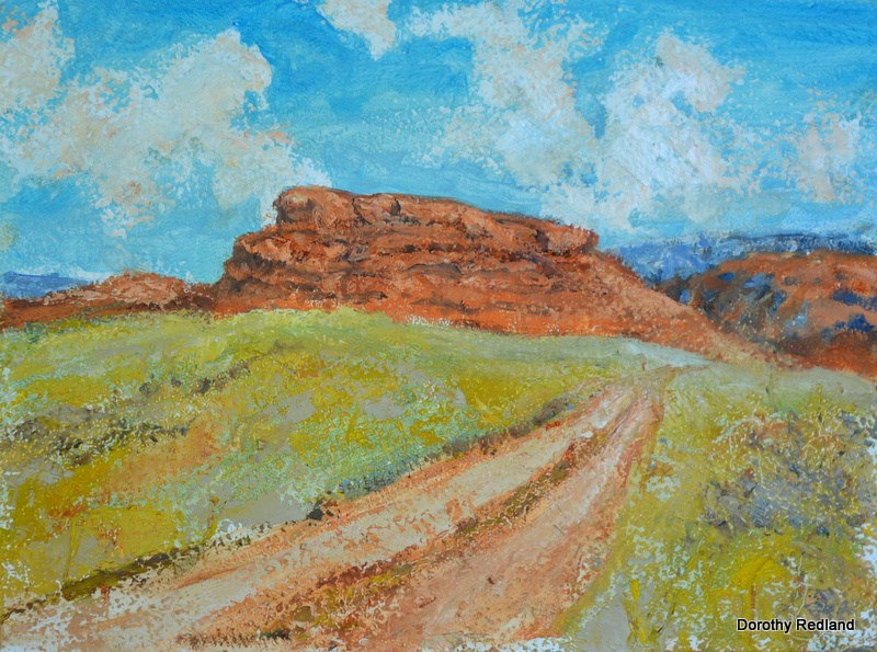 """""""The hole in the wall country"""" original fine art by Dorothy Redland"""