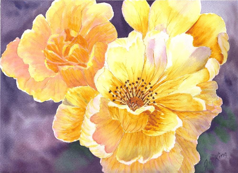 """""""floral"""" original fine art by jennifer king"""