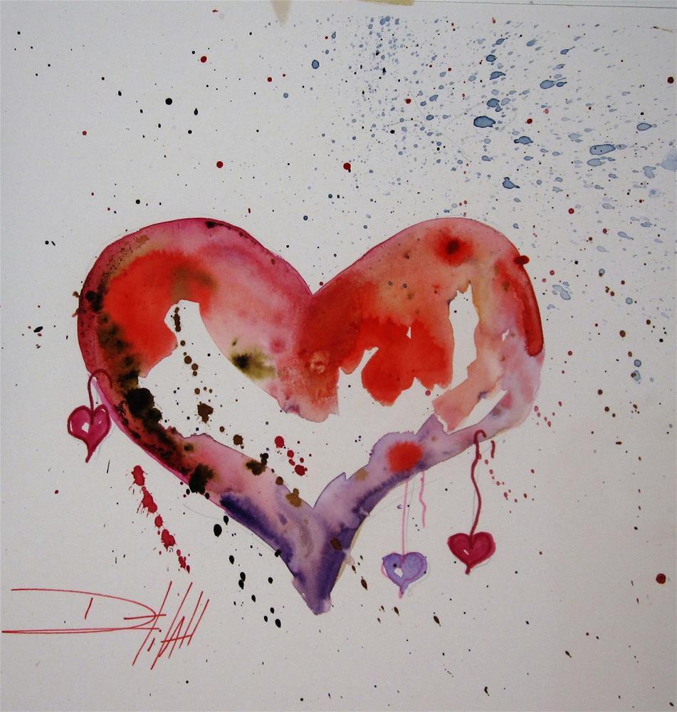 """My Heart"" original fine art by Delilah Smith"