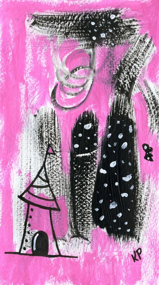 """""""Movin' on Up and Out"""" original fine art by Kali Parsons"""