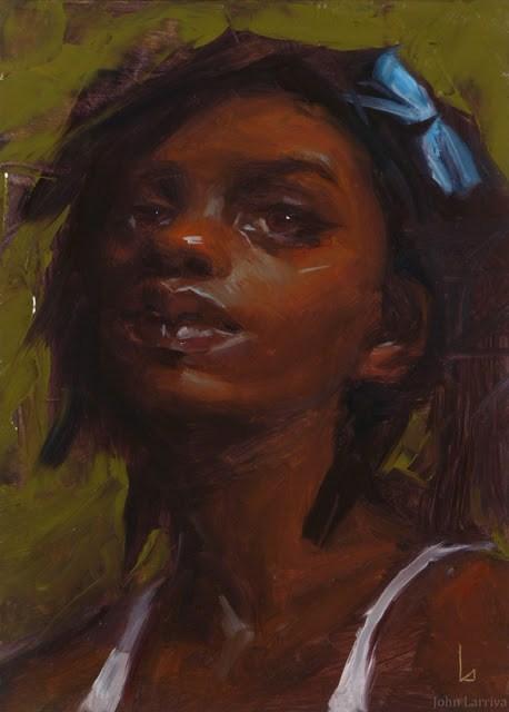 """Blue Bow"" original fine art by John Larriva"