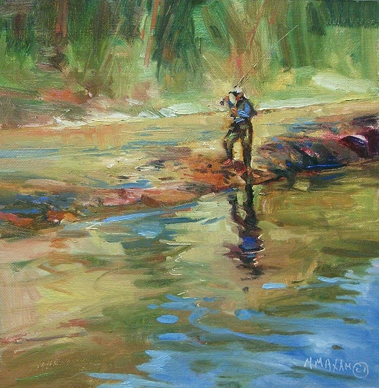 """""""Reflection On The River"""" original fine art by Mary Maxam"""