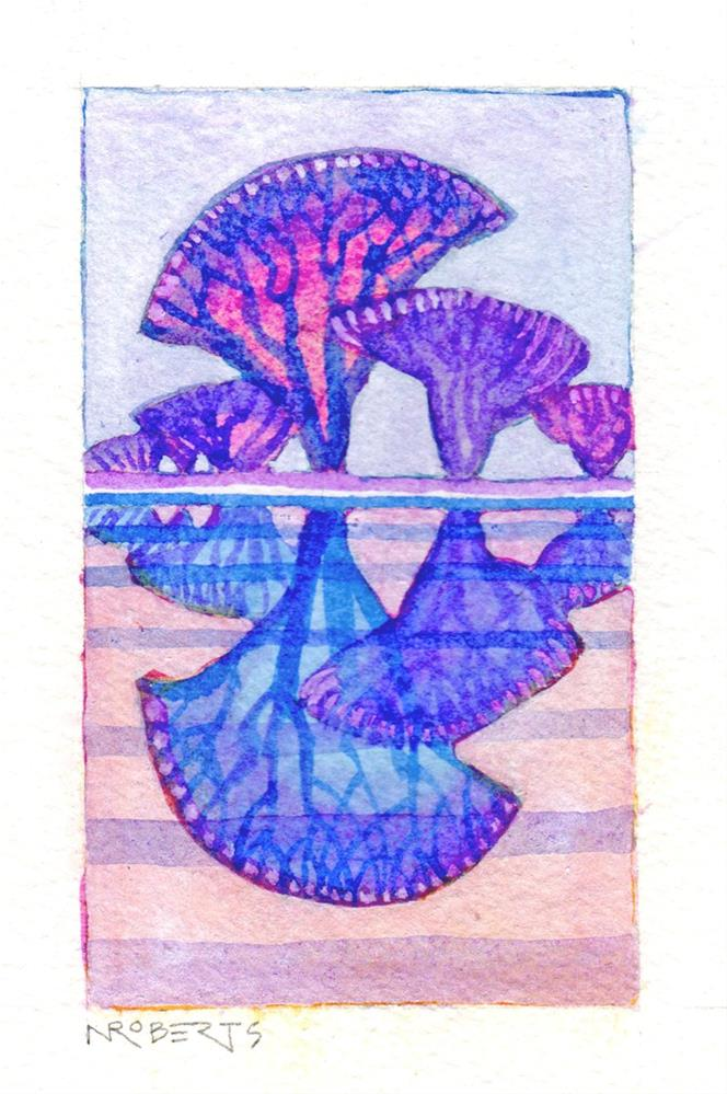 """Cobalt Reflections"" original fine art by Nancy Roberts"