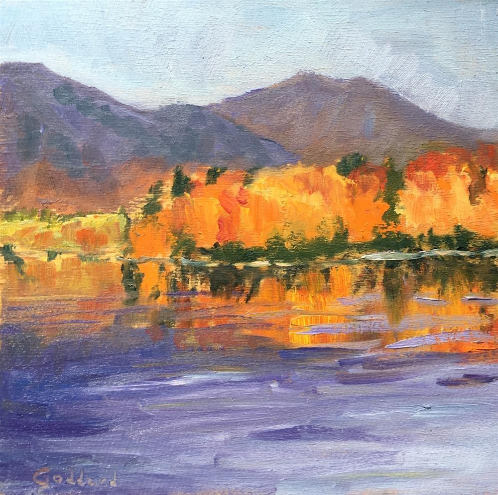 """Fire on the Mountain"" original fine art by Shari Goddard Shambaugh"
