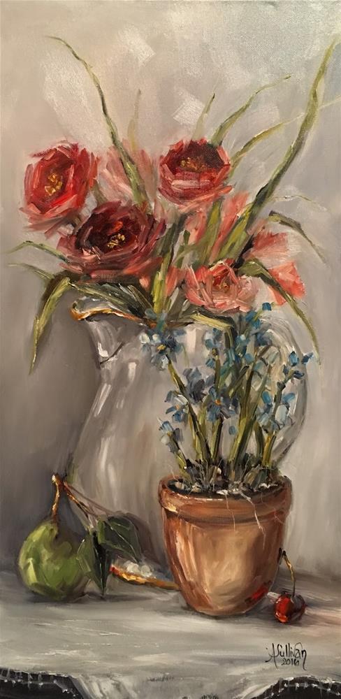 """""""Victorian Fancy still lie painting by Alabama Artist Angela Sullivan"""" original fine art by Angela Sullivan"""