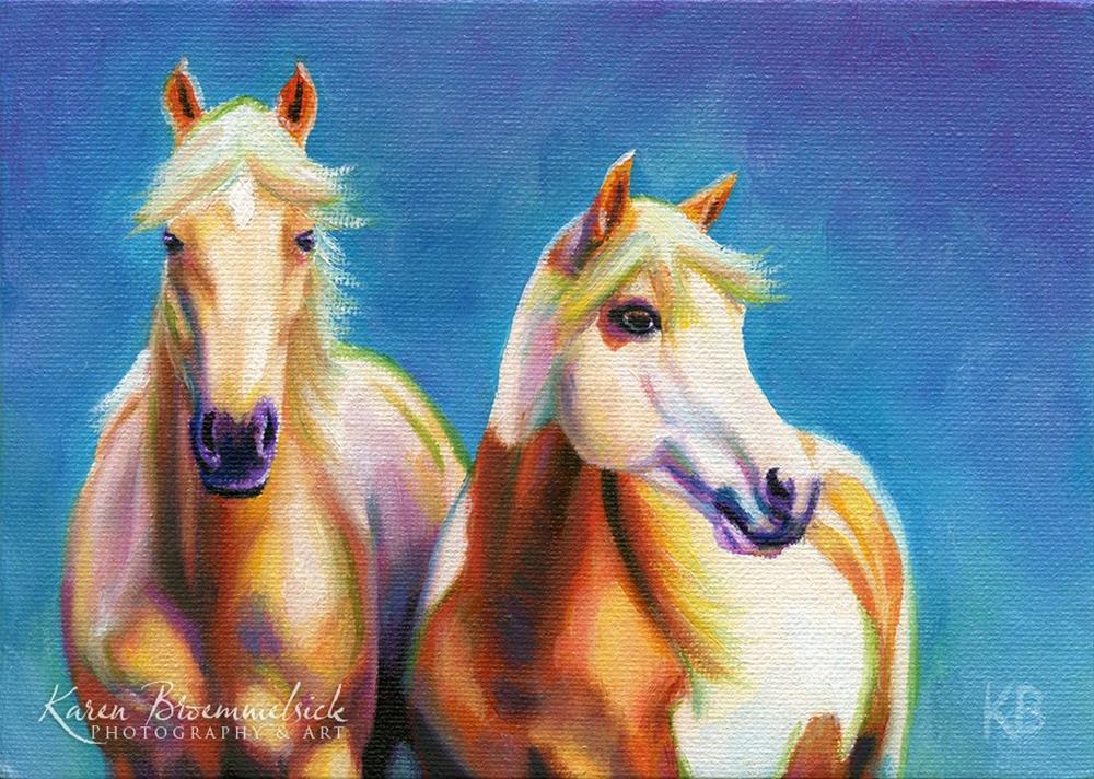 """""""Palomino Pals"""" original fine art by Karen Broemmelsick"""