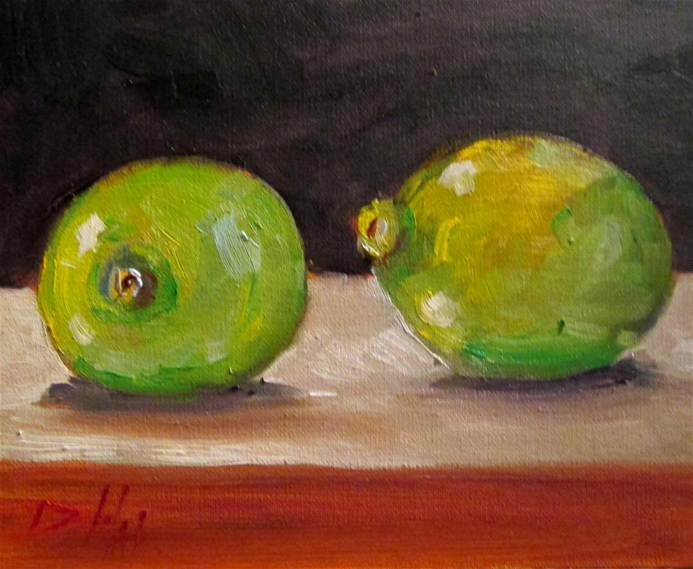 """Limes No. 3"" original fine art by Delilah Smith"