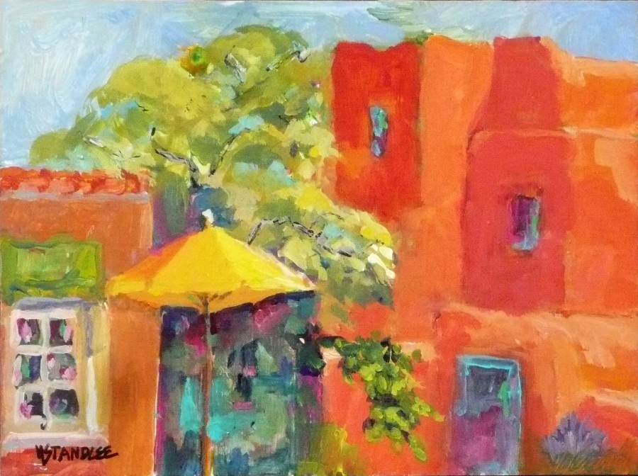 """Inn at Loretto and Mangiamo Pronto 11070"" original fine art by Nancy Standlee"