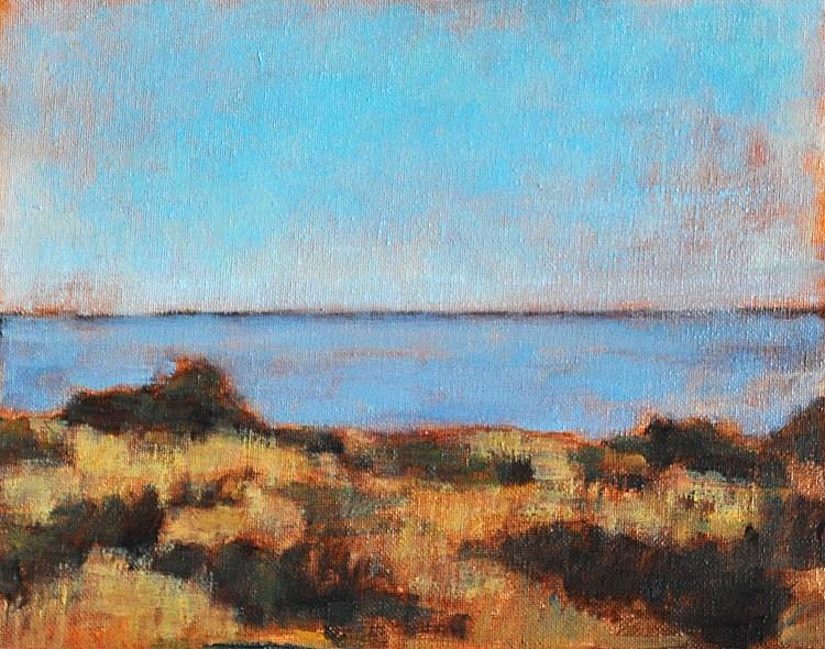 """""""Sea at Carlsbad"""" original fine art by Kevin Inman"""