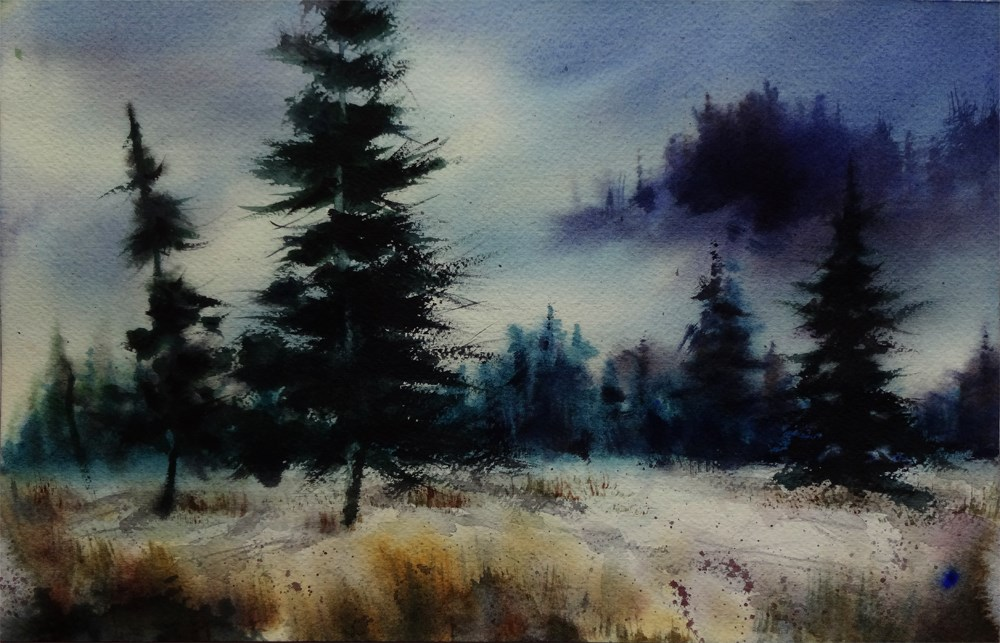 """""""Evergreen Notes"""" original fine art by Arena Shawn"""