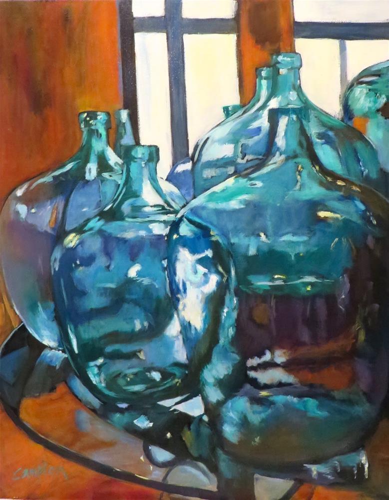 """In Wine There is Truth (In vino veritas)"" original fine art by Diane Campion"