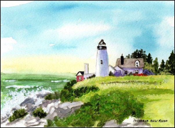 """Coastal Lighthouse"" original fine art by Patricia Ann Rizzo"