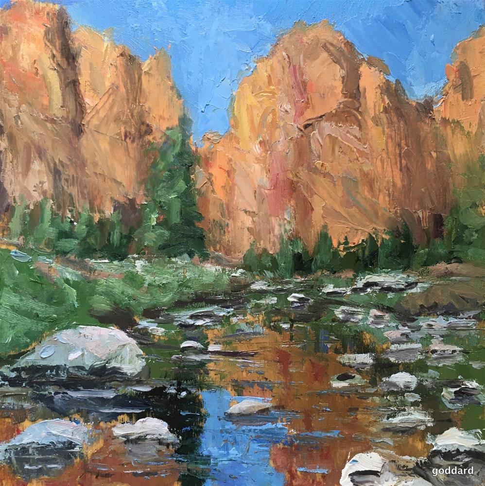 """Smith Rocks"" original fine art by Shari Goddard Shambaugh"